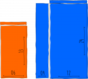 sobres de papel en Colores