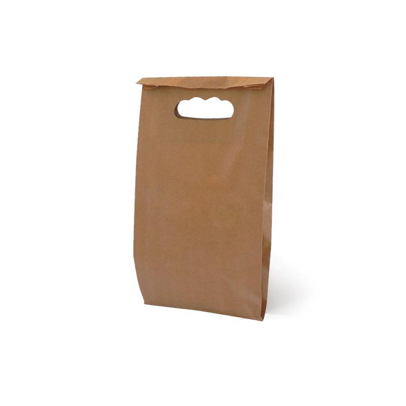 ec9f38d4e Bolsa de papel troquelada Kraft, 0,11 € muuuy baratas en packs de 50 uds
