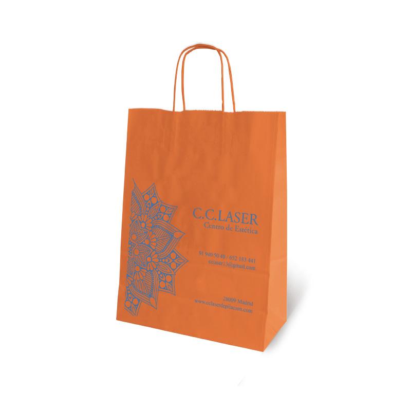 e674a5046 Bolsas de papel colores impresas, las pintamos para tí! desde 200 uds